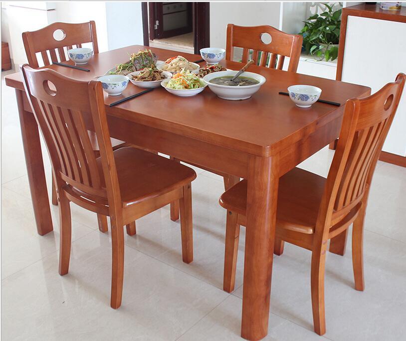 Table familiale petite rectangulaire en bois tables et for Oui non minimaliste