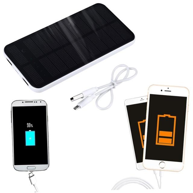 Recentes 7000 mah Dupla USB Banco de Energia Solar Portátil Titular Suporte Do Telefone Carregador De Bateria de Backup para Todos Os Telefone Celular Promoção