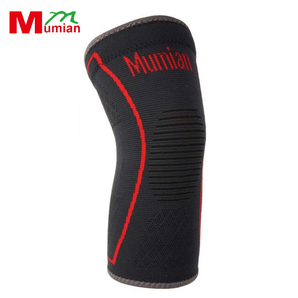 1PCS MUMIAN A09 Silicone Anti-Slip Knee Support Brace Kneepad Sport Safety for Volleyball Basketball Knee Pad New Style