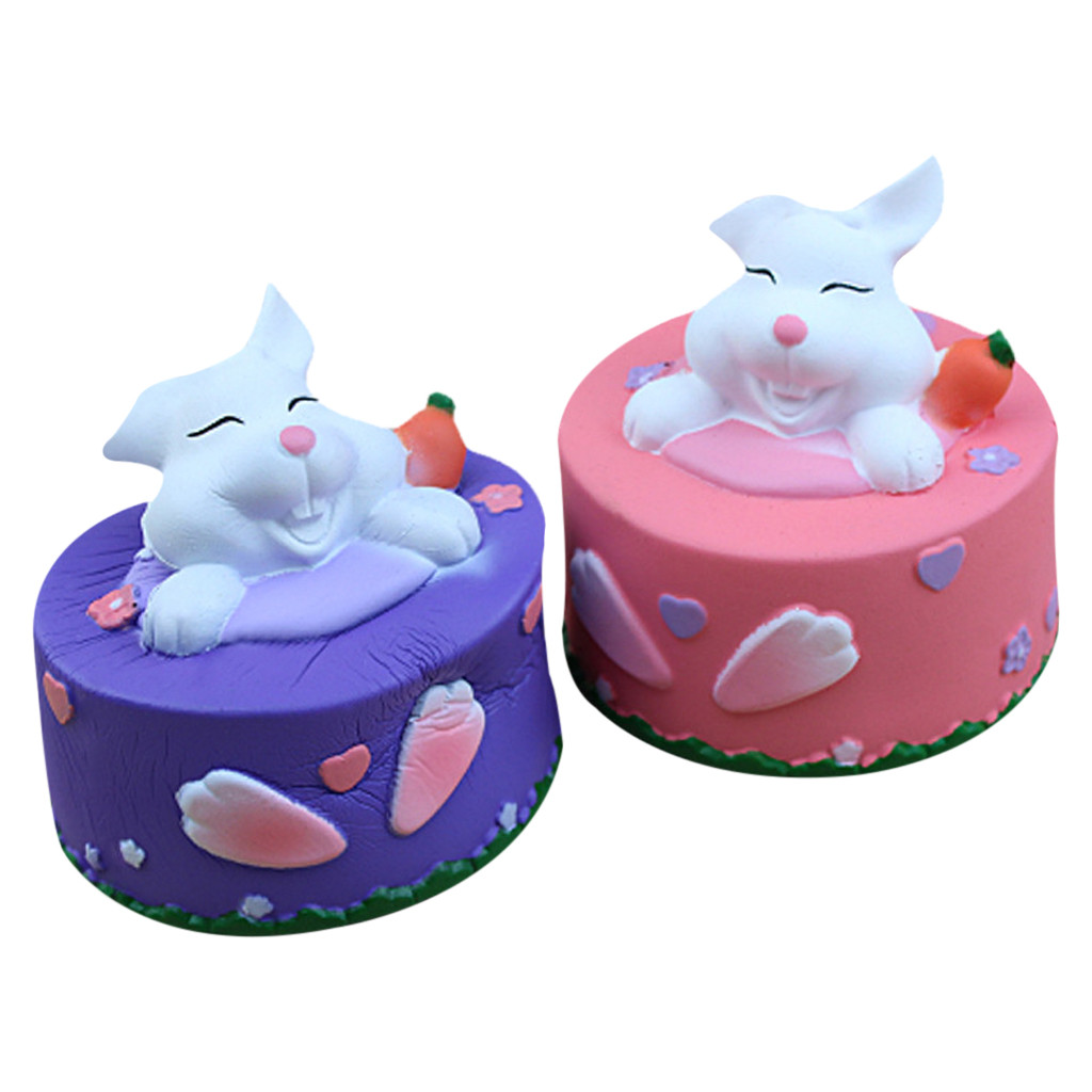 Toys & Hobbies Relax Toys Squishy Squishies Soft Cute Rabbit Cake Stress Reliever Scented Super Slow Rising Kids Squeeze Toy D300304 Squeeze Toys
