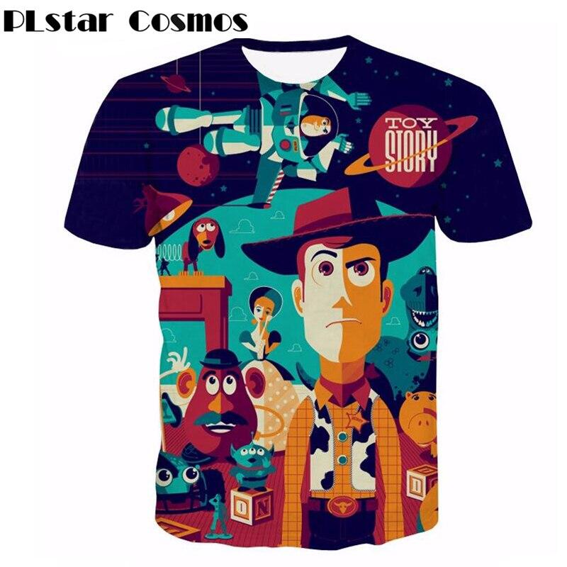 PLstar Cosmos Classic cartoon Toy Story character Buzz Lightyear 3d print t shirt Women/Men summer style casual tee shirt