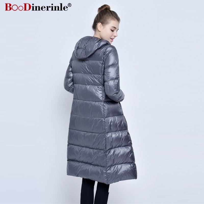 089b82fcb3a Women Ultra Light Down Jacket Long Puffer Coat Plus Size 3XL Winter Duck  Down Coat Collar Plus Lightweight Outwear Parka YR072-in Down Coats from  Women s ...
