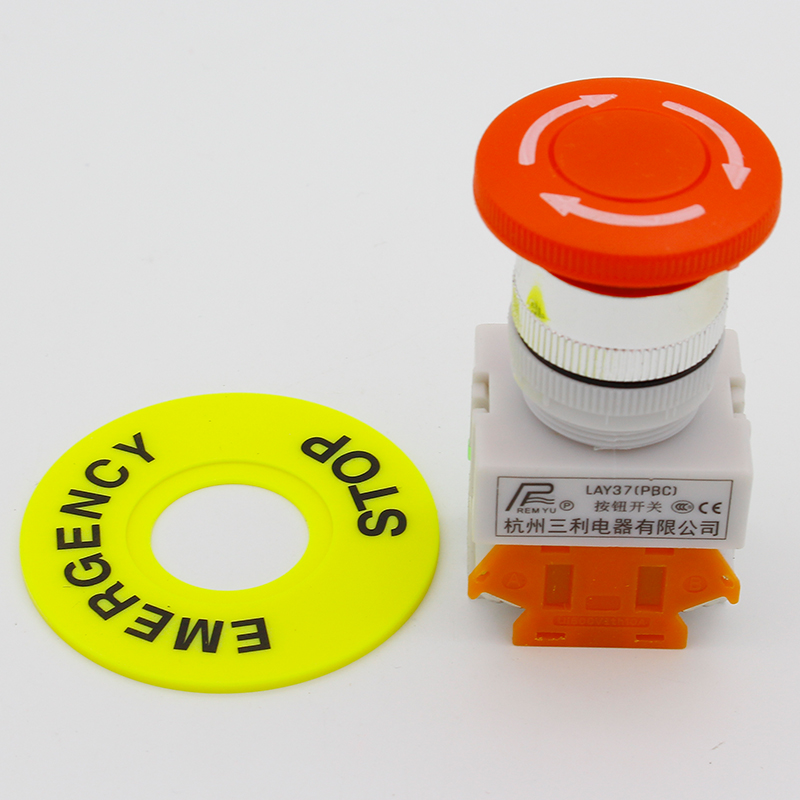 LHLL- Red Mushroom Cap 1NO 1NC DPST Emergency Stop Push Button Switch AC 660V 10A стоимость