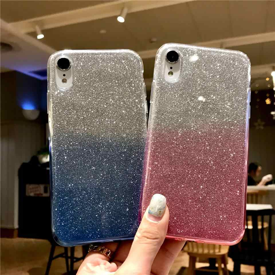 Rainbow TPU Soft Glitter Case For iphone XR XS X 6 6s 7 8 Plus Cases Nokia 3.1 5.1 7.1 Plus 5 7 8 6 2018 Cover Silicone Fundas