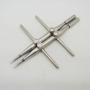 Image 2 - Приспособление с 2 винтовыми фиксирующими наконечниками, профессиональный гаечный ключ из нержавеющей стали, инструмент для ремонта линз, один заостренный наконечник и один плоский наконечник