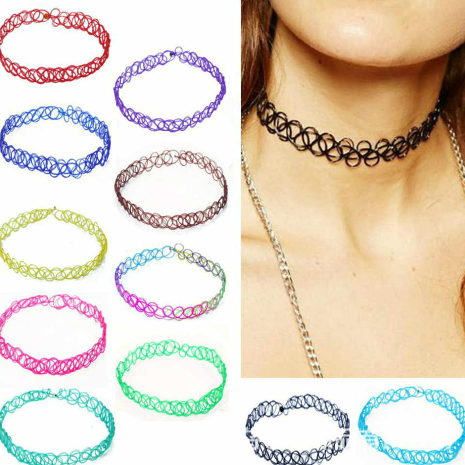 1pcs Sell New Power Necklaces Colorful Sexy Holiday Seaside Resort Beach Jewelry Water Drop Circular Cobwebbing Clavicle 2018
