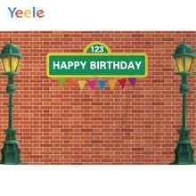 Yeele Street Light Brick Wall Little Birthday Party Photography Backdrops Personalized Photographic Backgrounds For Photo Studio