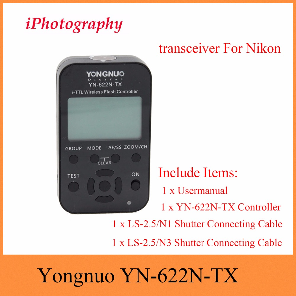 купить Yongnuo YN-622N-TX YN622N-TX YN 622N TX i-TTL LCD wireless flash controller wireless flash trigger transceiver For Nikon DSLR по цене 2787.9 рублей