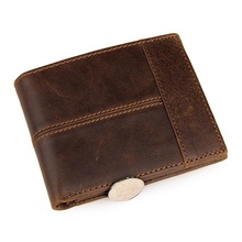 Weduoduo Brand Genuine Leather Men Wallets Coin Pocket Zipper Real Mens Wallet with High Quality Male Purse