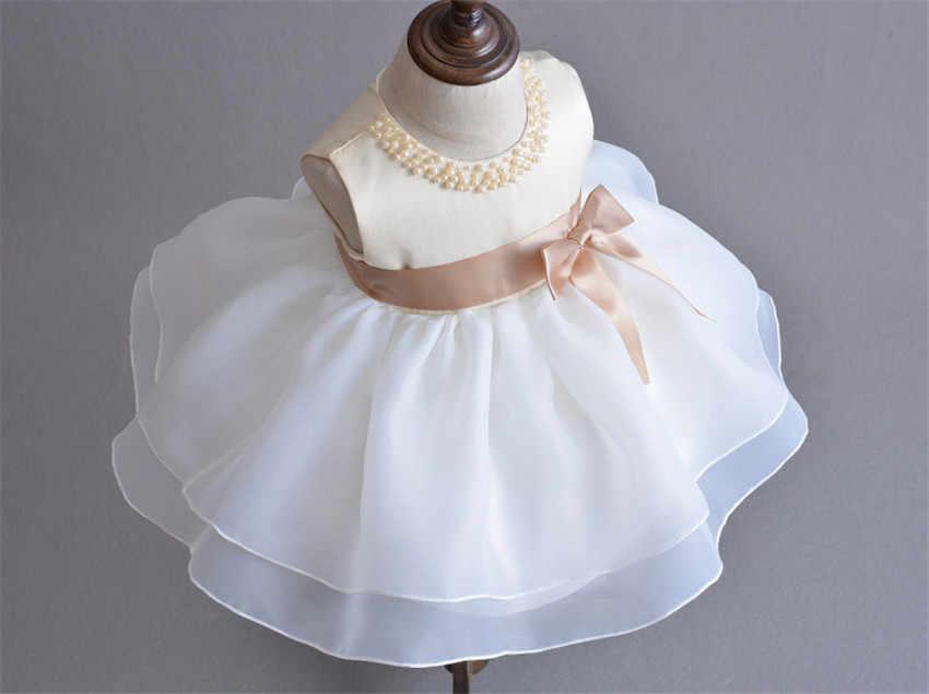 f1c6f6421b726 HAPPYPLUS Birthday Dresses for 1 Year Baby Girl Fancy Frocks Champagne  Birthday Dress for Girl Clothes 2 Years Wedding Dresses