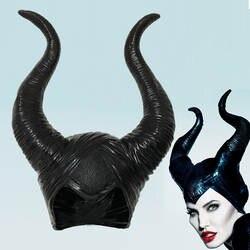 Maleficent рога косплэй шапка-маска черный queen шлем кепки с головным убором для Хэллоуина маскарадные реквизиты для вечеринки