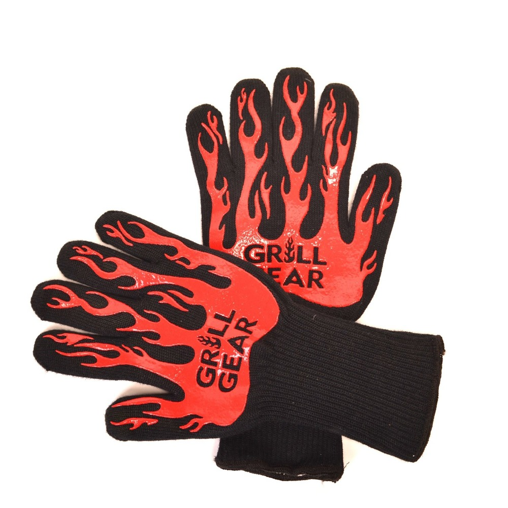 New Product Hotsale two color aramid fire insulation gloves Heat resistant glove 932F bbq glove oven grill bake gloves mr grill heat resistant oven