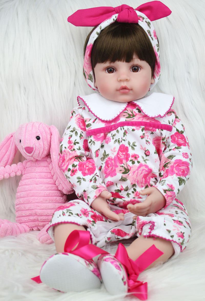 60cm Silicone Reborn Princess Baby Doll Toys Like Real 24inch Vinyl Toddler Girls Babies Dolls Kids Birthday Gift Play House Toy