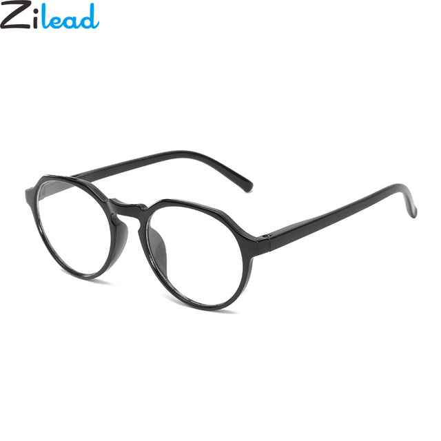 Zilead Black Polygon Reading Glasses Ultra Light Clear Lens Eyeglasses Presbyopia+1.0+1.5+2.0 +2.5 +3.0 +3.5+4.0 For Women&Men