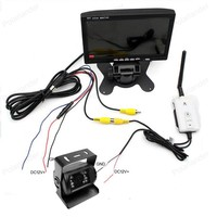 3in1 2.4G Wireless 7 Inch car Parking Monitor With 18 LED night vision Rear View Camera For Truck Bus Vehicle