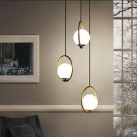 Golden Round Globe Pendant Lights Bar Restaurant Kitchen Fixtures Glass Ball Pendant Lamps Hang Lamp lamparas luminaire avize