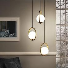 Golden Round Globe Pendant Lights Bar Restaurant Kitchen Fix