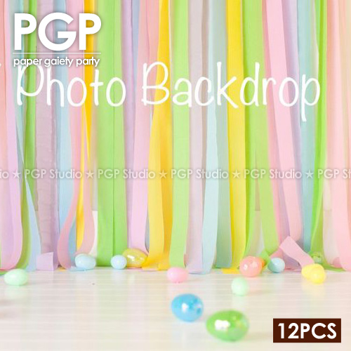 PGPRainbow Crepe Paper StreamersUnicorn Wedding Kid Girls Birthday Bridal Showers Candy Easter Party Decoration Backdrop In Banners Streamers Confetti