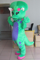 Funny baby bop dinosaur cartoon character mascot costumes for Suit Fancy Dress Carnival Outfit Adult Size Full Body Props Outfit