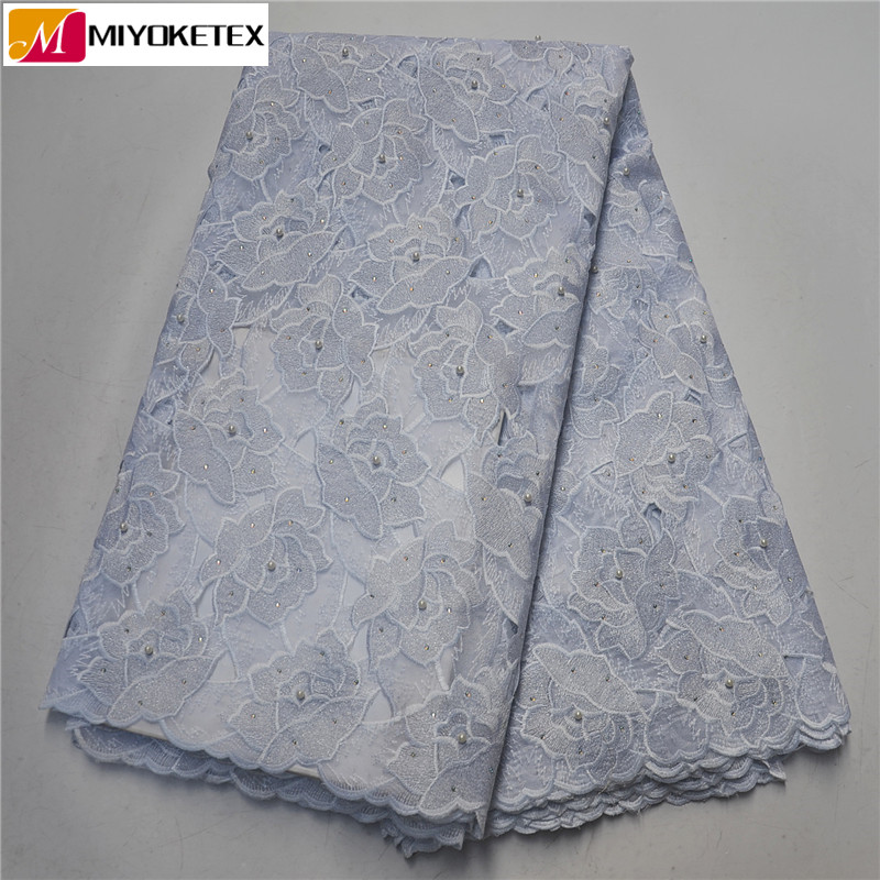 Latest White French Net Laces With Velvet Fabric Fabrics High Quality African Embroidered Laces Fabric Nigerian