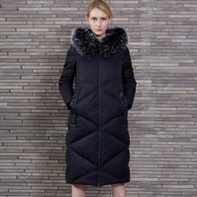 2017 New Design Winter Women's Down Jacket Coat Warm big fur collar hooded Parkas Female Outwear s1067