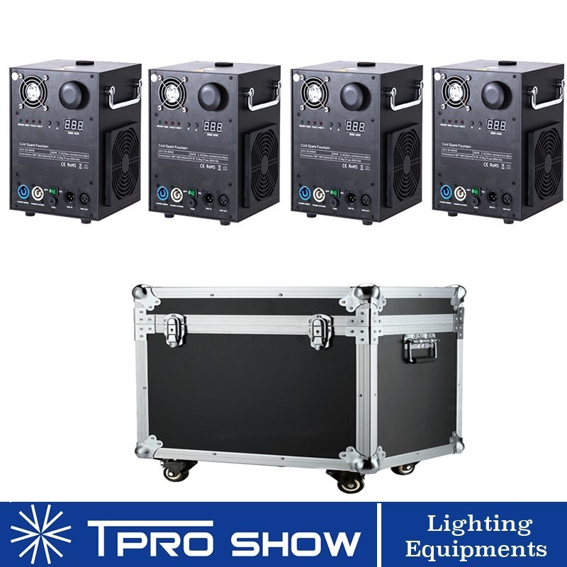 Image 5 - Mini Sparkular Indoor/Outdoor Weddings Dmx/Remote Control Fireworks Cold Spark Fountain Machine Smokeless Flight Case No Card-in Stage Lighting Effect from Lights & Lighting