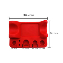 все цены на New  Red Silicone Ink Cup Pen Holder Tattoo Pigment Ink Cup Caps Holder Stand for Permanent Makeup Eyelash Extension онлайн