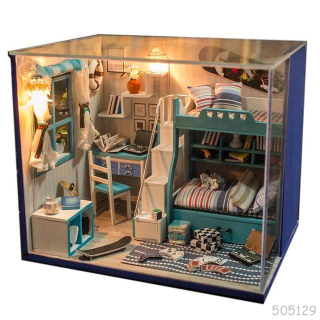 Diy Large Doll House Handmade 3d Miniature Wooden Building Model