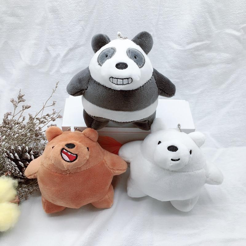 We Bare Bears Plush Cartoon Soft Stuffed Animal Teddy Bear Kawaii Cute Kids Toys