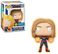 Exclusive Official Funko pop Glow in the dark Captain Marvel Vinyl Action Figure Collectible Model Toy