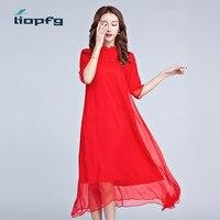 2017 Spring And Autumn New Red Dress National Style Women S Retro Slim Cheongsam Chiffon Five