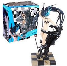 24cm Anime Black Rock Shooter 1/8 Figurine Hatsune Miku Figma PVC Model Figure Toys недорого