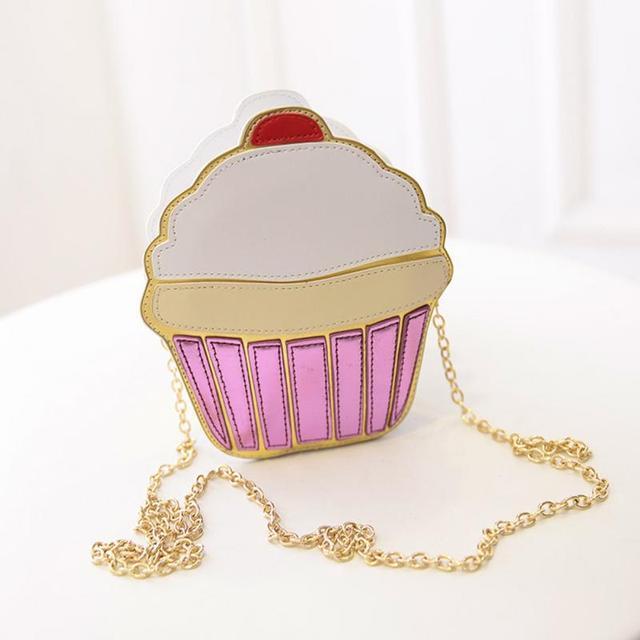 5e2c6559f7338 New Fashion Chain Clutch Crossbody Bag Lady Shoulder Bag Girl Cupcake Small  Cute Purse Mini Cream Bag Cake Pattern Design SS0068