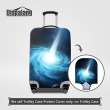 Dispalang Lighting Paisley Travel Luggage Protector Covers 3D Galaxy Star Men Women Elastic Waterproof Dust Cover For Trunk Case