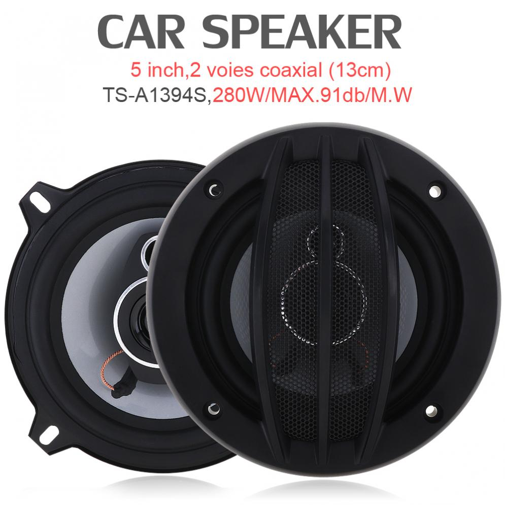 где купить TS-A1394S 5 Inch 280W Auto Car HiFi Coaxial Speaker Vehicle Door Auto Audio Music Stereo Full Range Frequency Speakers for Cars дешево