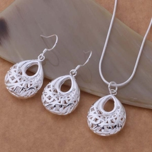 Silver plated Jewelry Sets Necklace + Earring