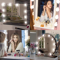 Makeup Mirror Vanity LED Light Bulbs Kit USB Charging Port Hollywood Style LED Vanity Mirror Lights Kit for Makeup Dressing Tabl