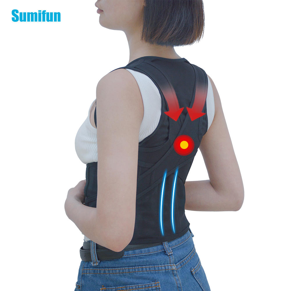 Sumifun 1 Pcs Breathable Body Sculpting Chest Support Belt Band Posture Corrector Brace Care Tool Back Shoulder For Wemen C776