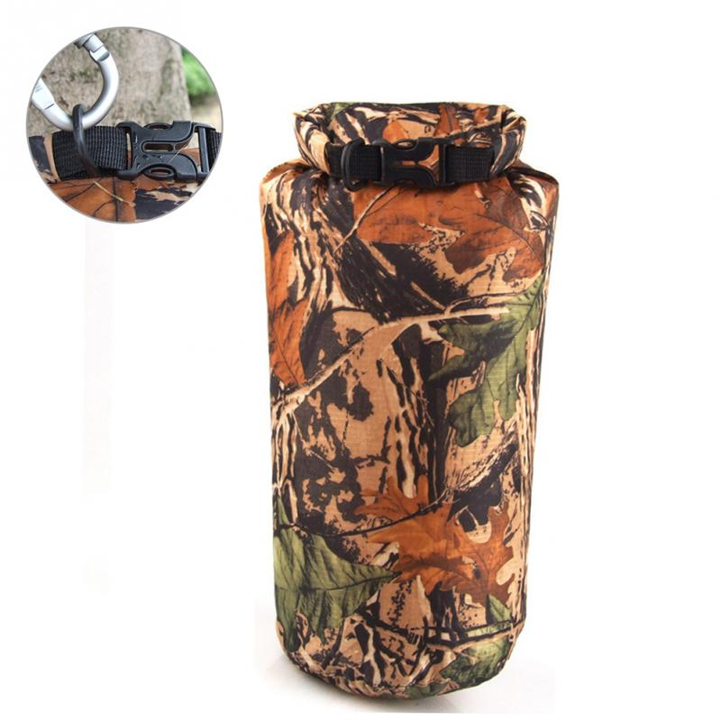 8L Swimming Package Bag Portable Swim Gear Bag Travel Drifting Waterproof Damp-proof Buckle Camouflage Printed Storage Bag Hot