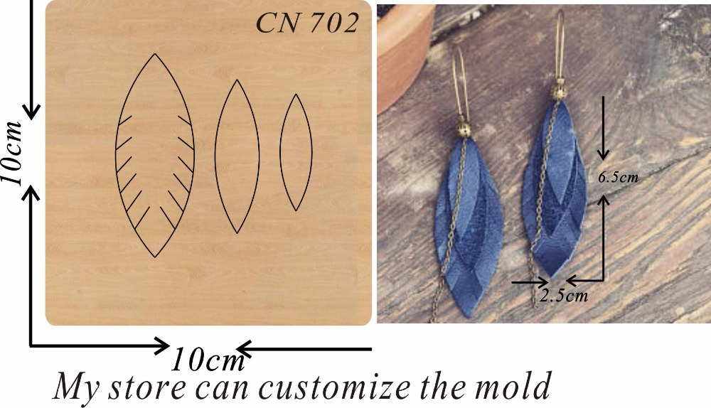Handmade earrings a4 new wooden mould cutting dies for scrapbooking Thickness 15 8mm
