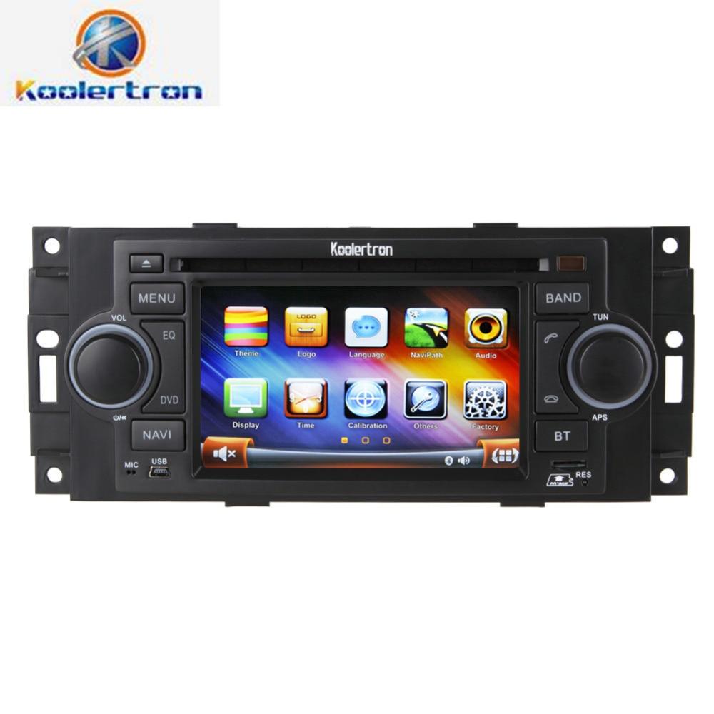 Koolertron Car Dvd Player Radio Gps Navigation Stereo For Chrysler C Pt Cruiser Dodge on Jeep Grand Cherokee Navigation Radio
