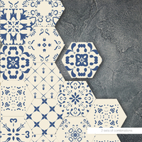 YOUMAN Blue DIY Decor Floor Stickers Self adhesive Anti Slip Waterproof Anti Oil Decor Hd 3d Self Adhesive Wallpaper Room Decals