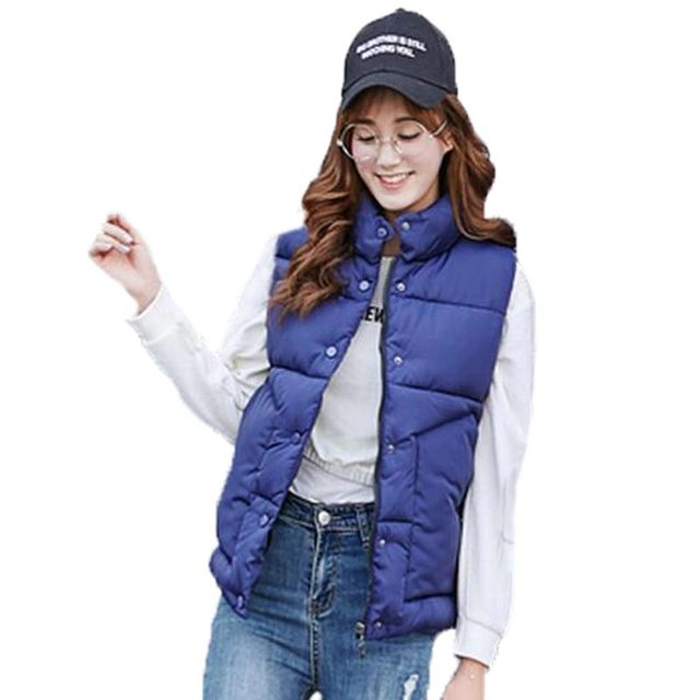 Fall Winter Vest for Men and Women Stand Collar Warm Cotton Padded Waistcoat Fashion Casual Couple Vest Plus Size Jacket PW0255