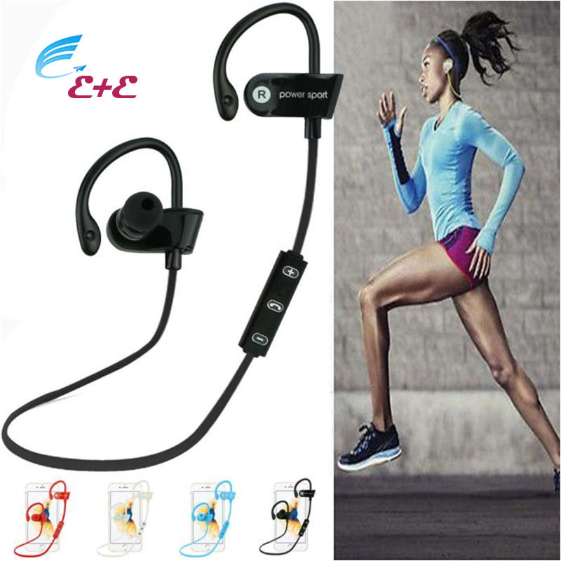 Headphones For a Mobile Phone Table Bluetooth Ear Hook Wireless Sports Stereo Waterproof Headset Earphone With Microphone 2017 universal led sport bluetooth wireless headset stereo earphone ear hook headset for mobile phone with charger cable