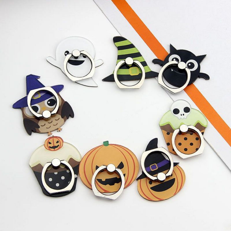 1PC Creative Hot sale Universal 360 Degree Halloween Cartoon Smartphone Mobile Phone Stand Holder For iPhone Samsung figure toys