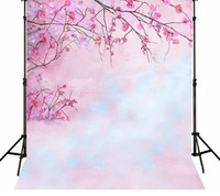 Pink Flower Bokeh Photography Backgrounds High Grade Vinyl Cloth Computer Printed Newborns Backdrops