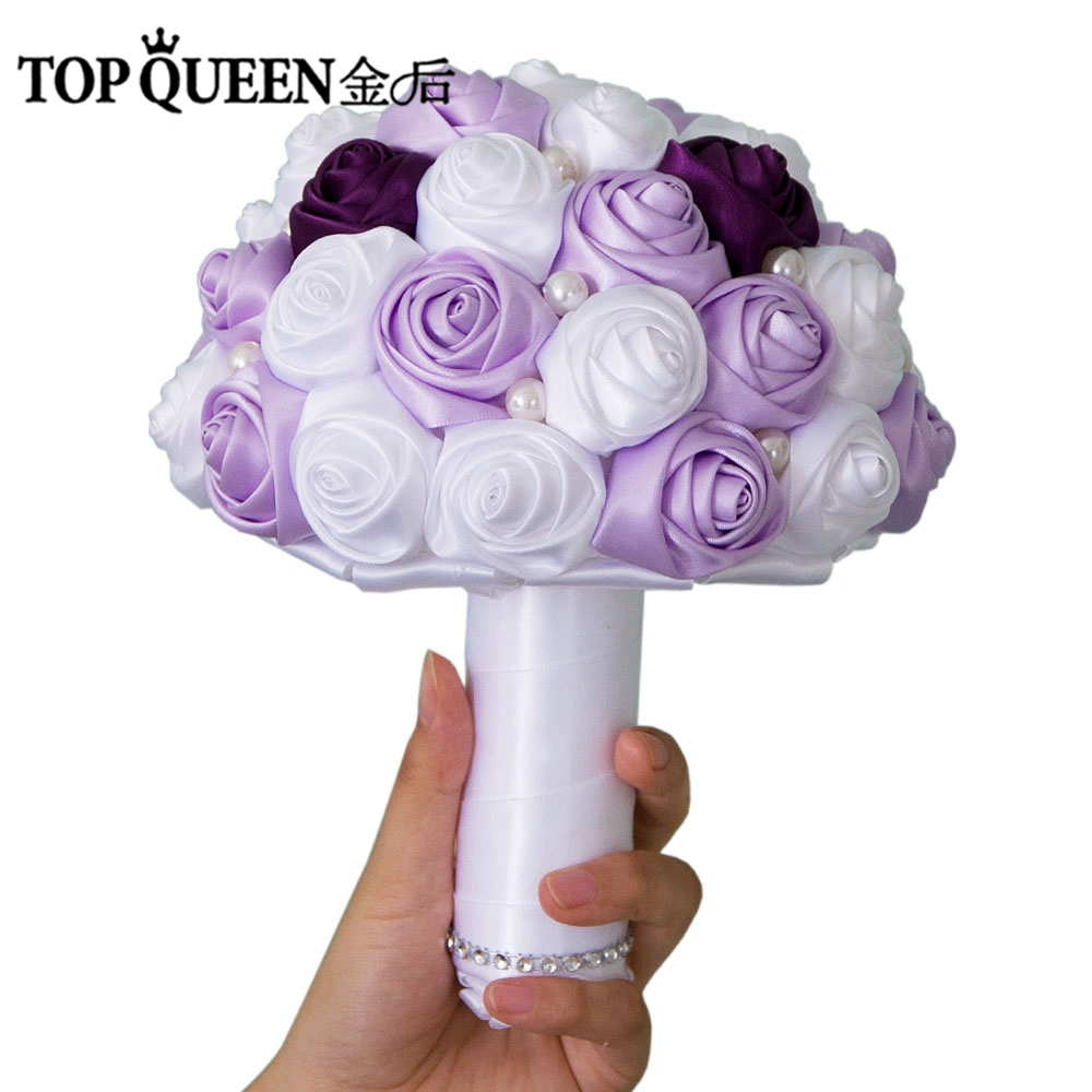 Online shop topqueen f7 wedding bouquet purple and lavender rose online shop topqueen f7 wedding bouquet purple and lavender rose white rose bridesmaid flowers pearl bridal bouquets aliexpress mobile izmirmasajfo
