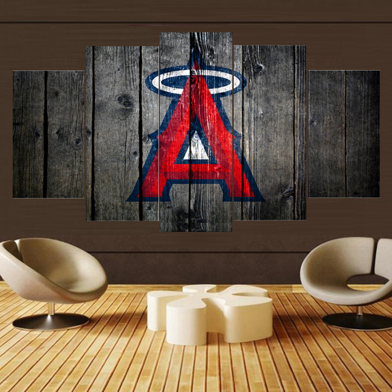 Garden Decor Los Angeles: Home Decor Sport Los Angeles Angels Paintings Wall Home