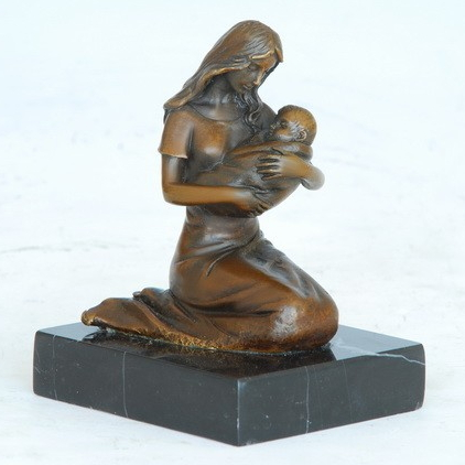 Charmant ATLIE Bronzes Classical Small Cameo Bronze Woman Holding Baby Sculptures  Figurine Tabletop Sculpture Statuette In Statues U0026 Sculptures From Home U0026  Garden On ...