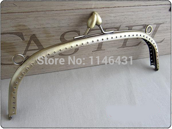 10pcs 19.5cm buds head purse frame antique brass purse frames kiss lock clasp bag handle handbag frame metal accessories S0200